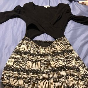 Charlotte Russe sz S, open middle high low dress.